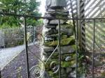 Rebuilding dry stone wall